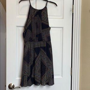 Lush navy paisley dress. Large. NWT